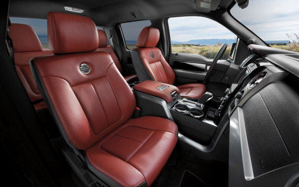<p>2013 Ford F-150 Limited interior</p>