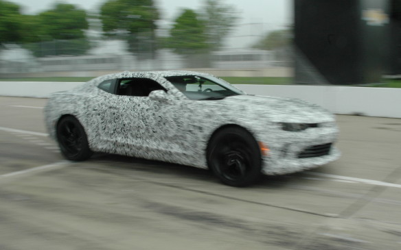 <p>2016 Chevrolet Camaro on track</p>