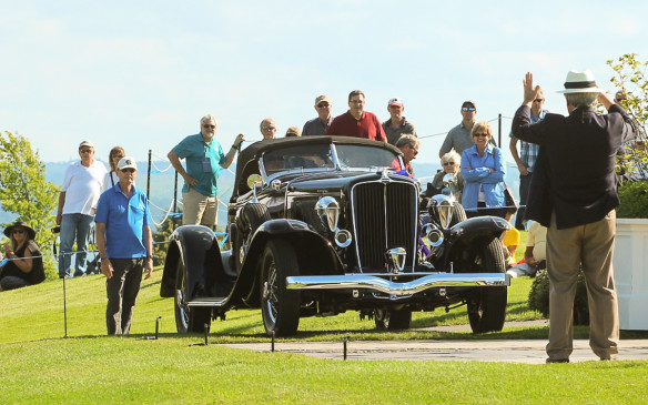 <p>... and the Concours judges agreed. The 1932 Auburn Boattail Speedster was judged Best of Show at the 2016 Cobble Beach Concours d'Elegance.</p>