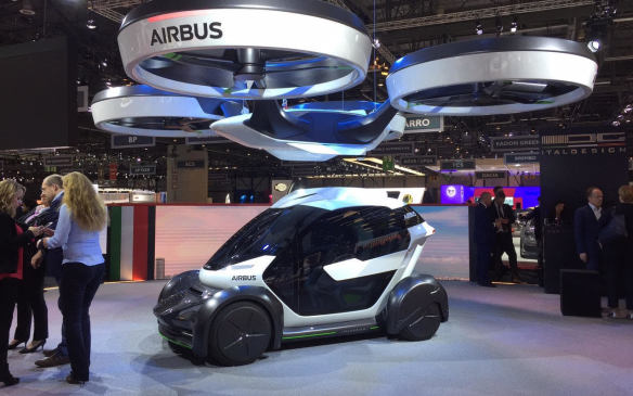<p>Airbus has been talking about its Vahana flying autonomous vehicle project for a while now, but at this year's Geneva Motor Show, it's showing off a concept design created in partnership with Italdesign.</p>
