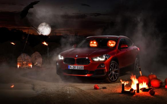 <p>BMW X2 at Halloween</p>