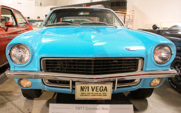 <p>While it was not a direct replacement for the Corvair, the sub-compact Vega became Chevrolet's entry-level model in 1971. This was the first Vega off the Lordstown, Ohio assembly line. While it was an attractive car and featured some novel engineering, including a linerless aluminum engine, it was fraught with reliability issues and it lasted only seven years before being discontinued.</p>