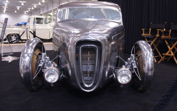 <p>A grille from an old Edsel has found a new home on the nose of George Stouros's Shadow Hunter custom pickup.</p>