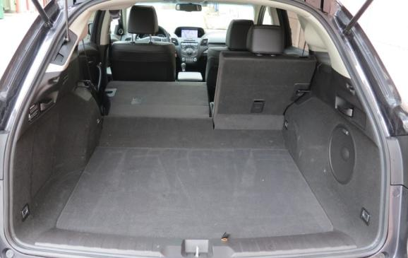 2013 Acura RDX - cargo area, rear seatbacks partially folded