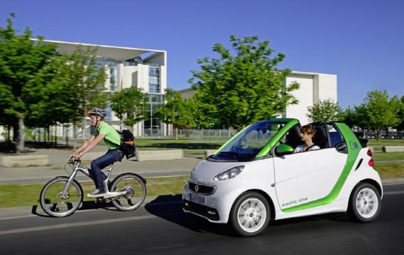 Smart ebike and fortwo electric drive cabriolet