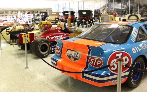 <p>While Indy cars are the primary focus of the museum, this significant NASCAR Winston Cup race car was the first of its type added to the collection. It's one of the Pontiac Grand Prix racers driven by NASCAR legend Richard Petty in 1992 - his last season as a driver.</p>