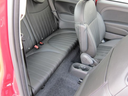 2012 Fiat 500 back seat