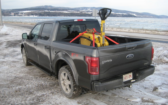 <p>The development of an all-aluminum cab and box, which started in 2009 and has been subjected to more than 16 million kilometres of testing before its introduction in the 2015 F-150, resulted in a 317-kg reduction in vehicle weight, yet the use of an all-new high-strength steel frame enabled Ford engineers to deliver a truck that offers best-in-class payload (up to 1,500 kg/3,300 lb) and towing capacities (up to 5,530 kg/12,200 lb), depending on the powertrain, plus up to a 20% improvement in fuel economy, faster acceleration and better braking.</p>