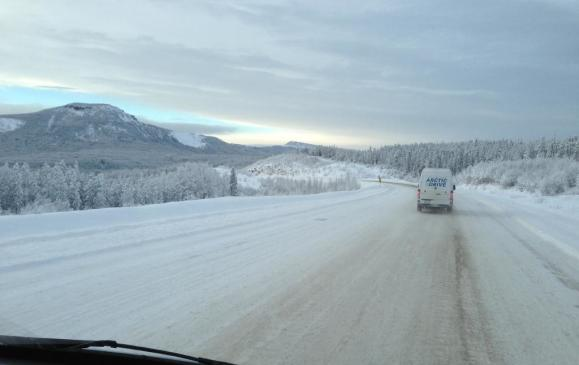 Mercedes-Benz Sprinter Arctic Drive - the lonely road in January