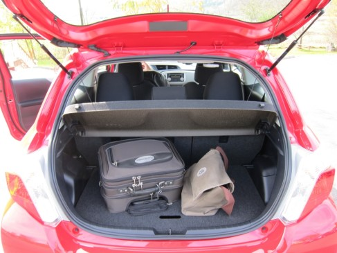 2012 Toyoya Yaris Hatchback - Cargo Area