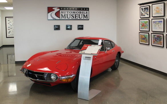 <p>The first car you see in the lobby is one of the jewels. The 2000GT was designed in the 1960s to be the first true Japanese exotic sports car. This car is a 1969 edition – one of only four brought into the country that year at the end of its three-year production run.</p>