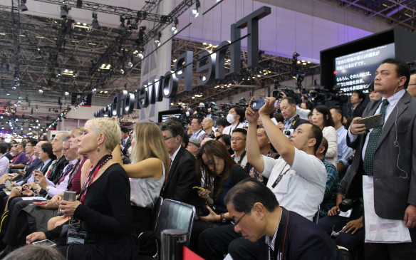 <p>Journalists come from around the world to see the latest models – and the latest futuristic concepts.</p>