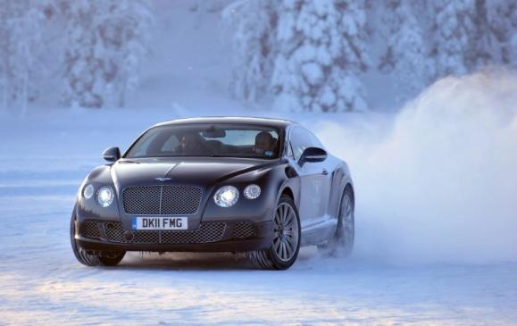 2013 Bentley Continental - Power on Ice