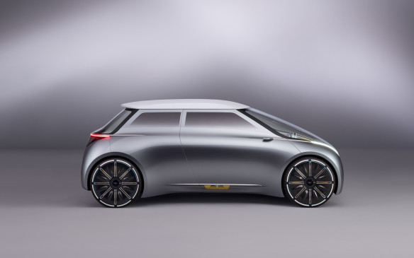<p>The futuristic Mini is also small on the outside, large on the inside. Unlike the regular car, though, it's designed to be shared among drivers and not just owned by one individual.</p>