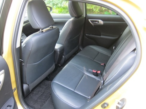 Lexus CT200h 2011 review rear seat
