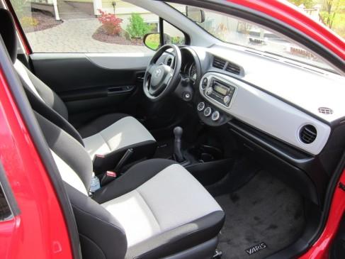 2012 Toyota Yaris hatchback interior - Front