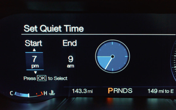 "<p>There's a ""good neighbour"" option for the exhaust sound that can be set by the driver: the car will automatically default to the Quiet option at preset times, such as in the early morning.</p>"