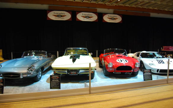 <p>The Legendary Motorcar Company of Halton Hills' exhibit probably contains the highest-value collection of vehicles per square foot, with its four entries which include:</p> <p>>1963 Factory Competition Shelby Cobra – the first Cobra to ever win a race, and first Cobra to win a championship; formerly a part of the Shelby American collection, it's valued at $6-million.</p> <p>> 1969 Ford GT40; one of seven lightweight factory GT40s to be built to the same spec as the 1968 Le Mans Winning GT40; valued at $9-million.</p> <p>> 1985 Ferrari 288 GTO; valued at $2.5-million.</p> <p>> 1961 E Type Jaguar roadster; a super-rare flat floor car that captured a perfect 1000 score at the Jag Nationals.</p> <p></p>