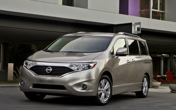<p>The fourth-generation Nissan Quest, introduced for 2011, represents an abomination of the sleek Forum concept vehicle that had been well received by autoshow crowds. Let's just say the van's breadbox styling has not been a big hit in North America. It used Nissan's familiar 260-hp VQ-series 3.5-L V-6 engine, working through a smooth, continuously variable automatic transmission (CVT) that allows the engine to lope along at highways speeds. Despite that, it swills fuel at a rate no better than 11 litres/100 km (25 mpg) just like a big SUV. The similarities don't end there: it's big and weighty, with a tall seating position that many drivers prefer. The Quest isolates occupants from road noise marvelously, but the cabin is oddly cramped, yielding the least useable passenger and cargo space in its class.</p>