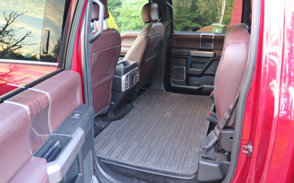 <p>Flip one or both sides of the 60/40 split rear seat up and out of the way and you have weather-proof cavern for wide, tall and or bulky items.</p>