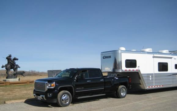2015 GMC Sierra HD - trailer towing partial view