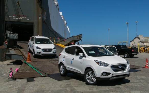 Hyundai Tucson fuel-cell vehicles