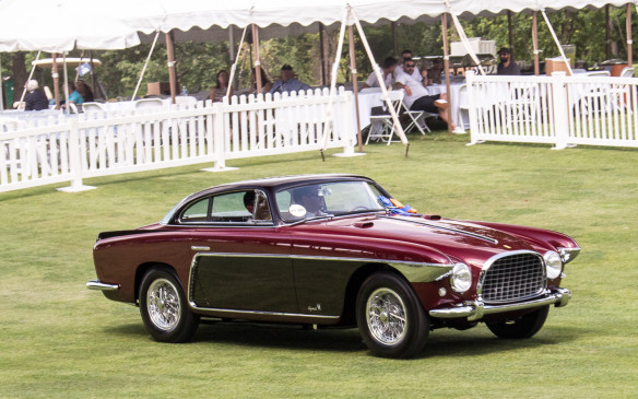 <p>The Lusso's smooth lines were in stark contrast to those of this 1953 Ferrari 250 Europa, which was named Best in Class among early sports cars.</p>