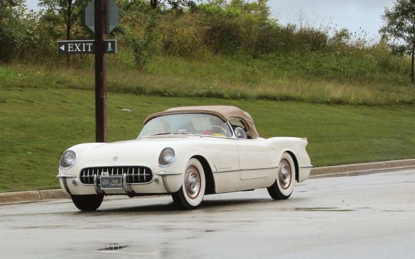 <p>Corvettes had two classes of their own, split at the '62/'63 model year break. This first-generation '54 model took part in the Tour as well as the Concours.</p>