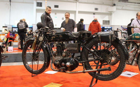 <p>One of the oldest bikes at the show was this 1924 Sunbeam Model 6, on display among other bikes from the 1910s and '20s in the vintage hall.</p>