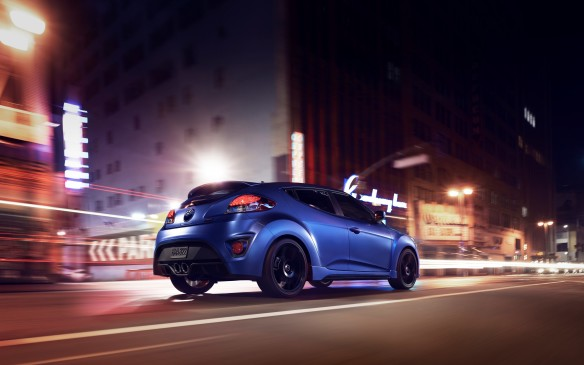 <p>The Rally edition of the new Veloster Turbo adds distinctive alloy wheels and a funky matte blue paint finish to the sport-tuned 3-door plus a hatch model. Power comes from a turbocharged 1.6-litre engine that pumps out 201 horsepower.</p>