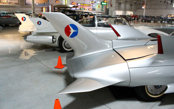 <p>Among the crown jewels of the Heritage Center collection are the three futuristic Firebird 'dream cars' GM unveiled in the 1950s. Powered by gas turbine engines, with huge vertical fins and vestigial wings, they were almost literally road-going aircraft.</p>
