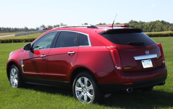 2010 Cadillac SRX - rear 3/4 view