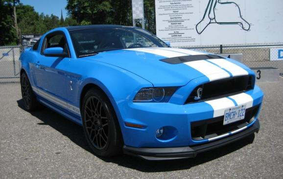 2013 Ford Shelby GT500 at Calabogie gate