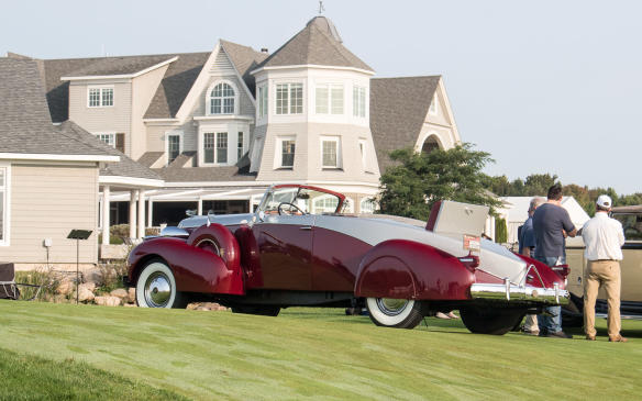 "<p>While boat-tail designs were relatively common among some other marques, this special Fleetwood-bodied, 1937 Cadillac V-12 Boat-tail Roadster was a ""one-off.""</p>"
