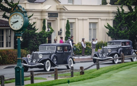 <p>The main event for classic car aficionados, however, was the Pebble Beach Concours, where Grand Classics such as these took centre stage in front of The Lodge.</p>