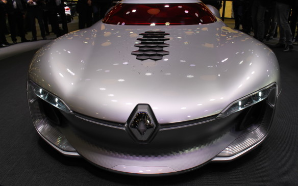 <p>Another radical car at the show was the Renault Trezor – a concept that's intended to be both fully electric and fully autonomous. Its lights change colour to alert other drivers if it's in full-autonomy mode, and small hexagonal flaps on the hood can rise up to provide cooling to the batteries.</p>