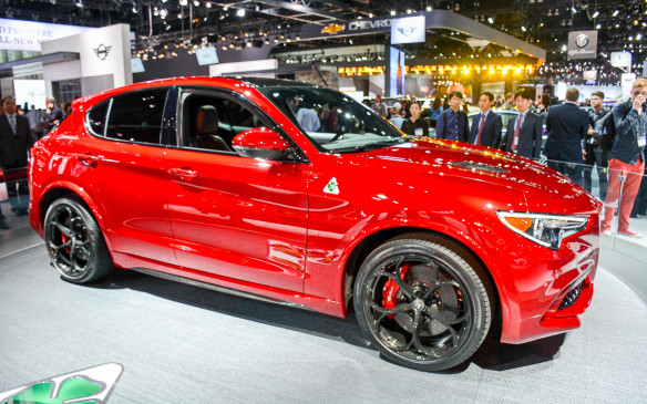 <p>It's not hard for Alfa Romeo to stand out between its cutting edge designs and intoxicating logo. At the LA Auto Show, it unveiled the Stelvio Quadrifoglio SUV to challenge the other luxury utility vehicles in a growing eegment.</p>