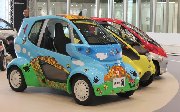<p>There were many other ultra compact vehicles available for test drives made by Toyota, Honda and Nissan.</p>