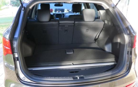 2013 Hyundai Santa Fe Sport - rear cargo area, rear seatbacks up