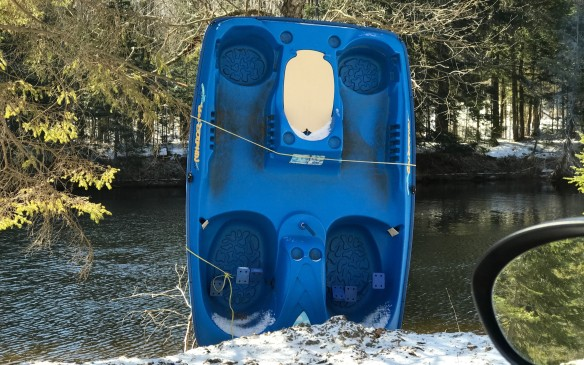 <p>It was not. We saw only a flash of blue as we sped past this pedal boat. It's a good thing we went back to check – <em>another point!</em></p>