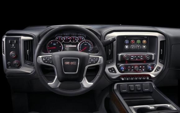 2015 GMC Sierra HD - steering wheel and instrument panel