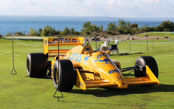 <p>Out on the show field, there was a special class for race cars, highlighted by this 1999 Lotus 99 T-5 Formula One car, driven in its day by later-to-be World Champion Ayrton Senna.</p>