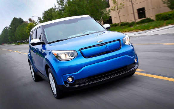 <p>The Kia Soul EV is perhaps the one electric vehicle available in Canada that's easiest to spot. Already quirky enough in its own right, Kia has never shied away from allowing its customers to scream their Earth-friendliness from the rooftops with the electric blue and white paint job and refusal to hide behind fake grilles and tailpipes. The 2017 model, priced from $35,395 before incentives, has a driving range of up to 150 km.</p>