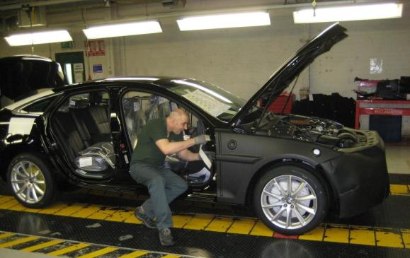 2012 Jaguar XJ Coventry production line - 1