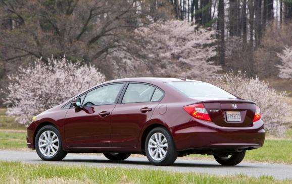 2012 Honda Civic EX sedan - Rear
