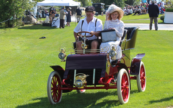 <p>This 1903 Cadillac Model A was the oldest car in the Concours, as well as the winner of the Brass (Pre-1916) class.</p>