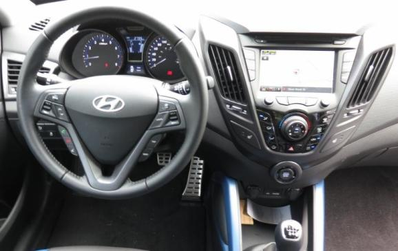 2013 Hyundai Veloster Turbo - steering wheel and instrument panel