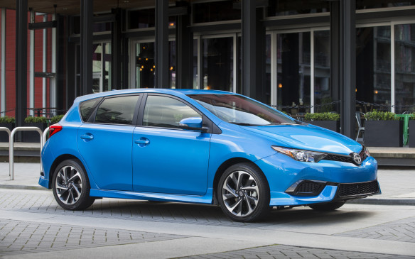 <p>Badged as the Toyota Auris in Europe, the iM is destined to become the core model for the Scion brand in North America. Think of it as a Corolla hatchback – or the resurrection of the Matrix – with a different label</p>