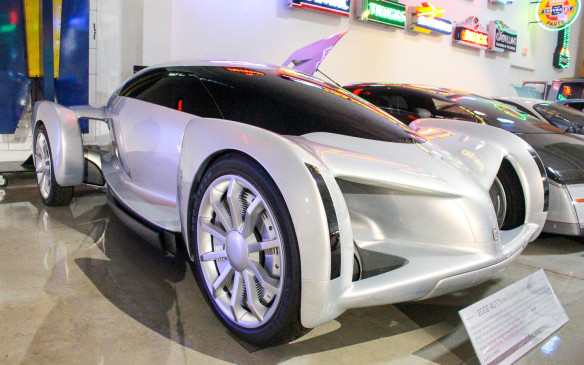 <p>The GM AUTOnomy concept car, introduced in 2002, was one of the most dramatic concept cars ever. While its fuel-cell powertrain has yet to become reality in any significant numbers, its 'skateboard' chassis configuration has become a near-norm for electric vehicle battery placement and many of its drive-by-wire features are now being used in production cars.</p>