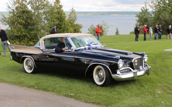 "<p>The ""Outstanding – Post-War"" award went to this big-finned, supercharged 1958 Studebaker Golden Hawk – the last of its lineage. But it wasn't the only Studebaker to gain attention.</p>"